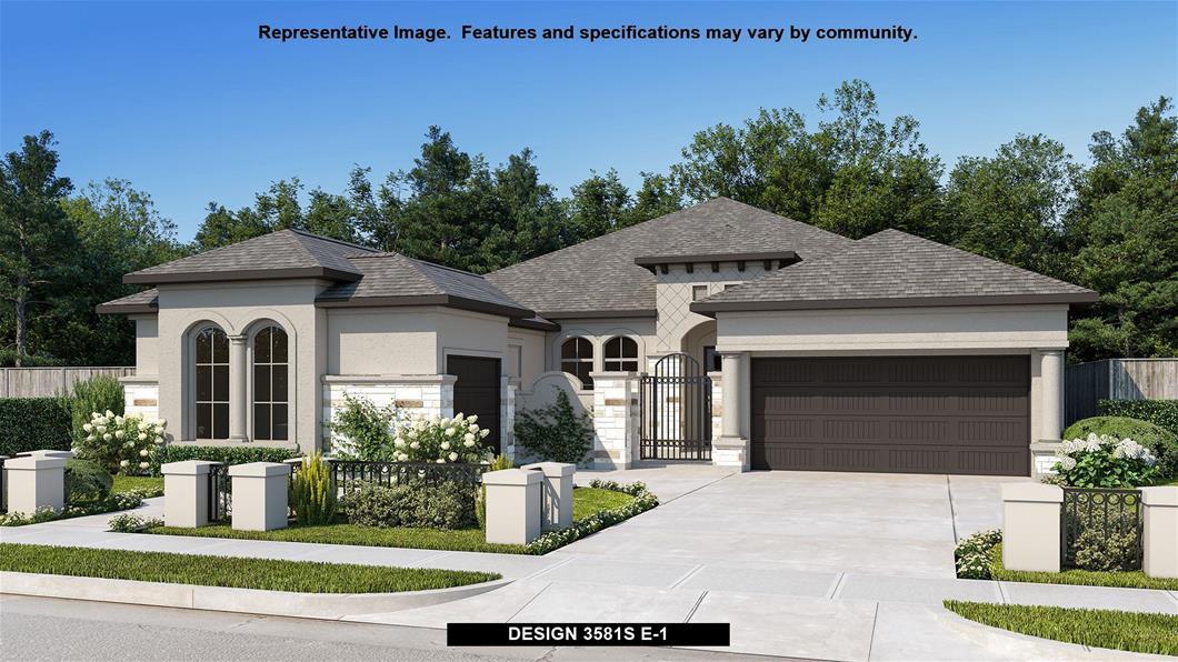 New Home Design, 3,581 sq. ft., 4 bed / 3.5 bath, 3-car garage