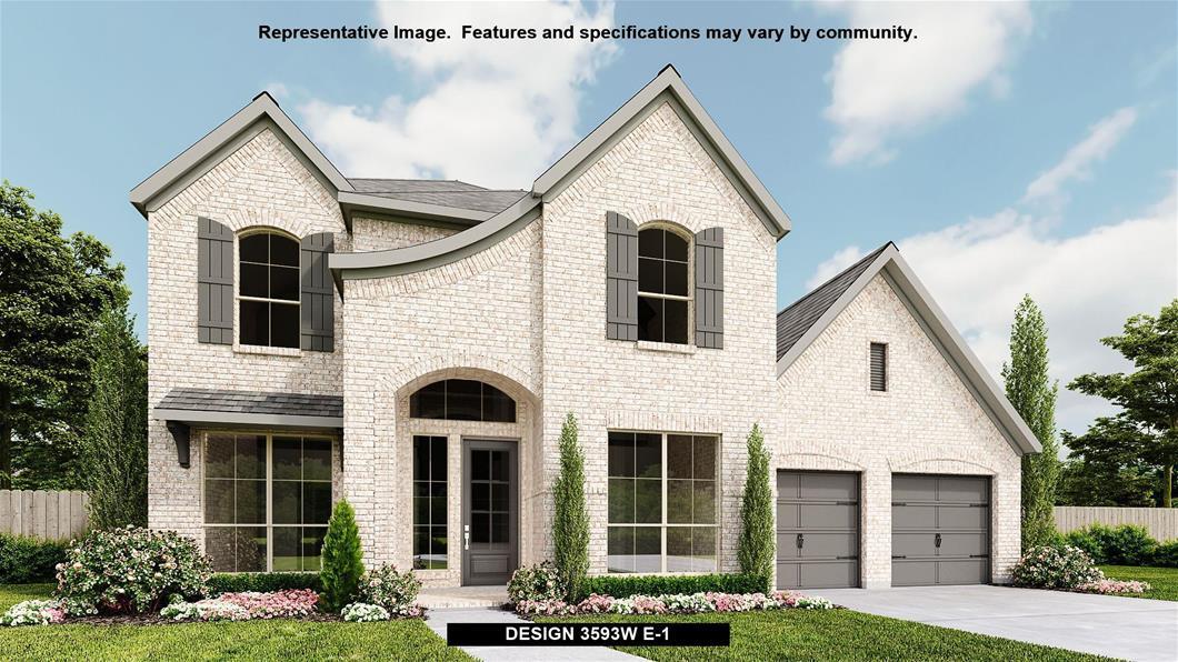 New Home Design, 3,593 sq. ft., 5 bed / 4.5 bath, 3-car garage