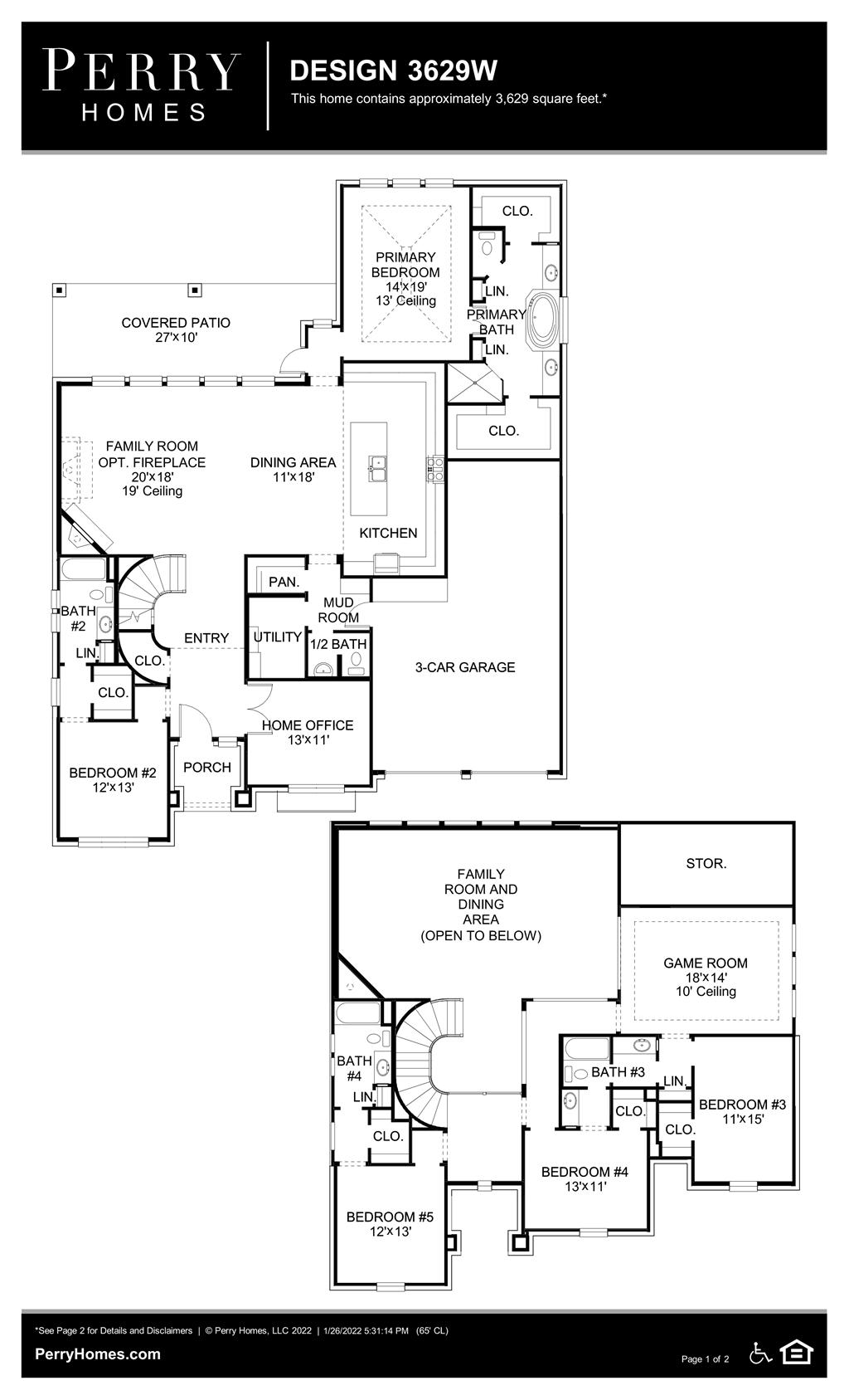 Floor Plan for 3629W