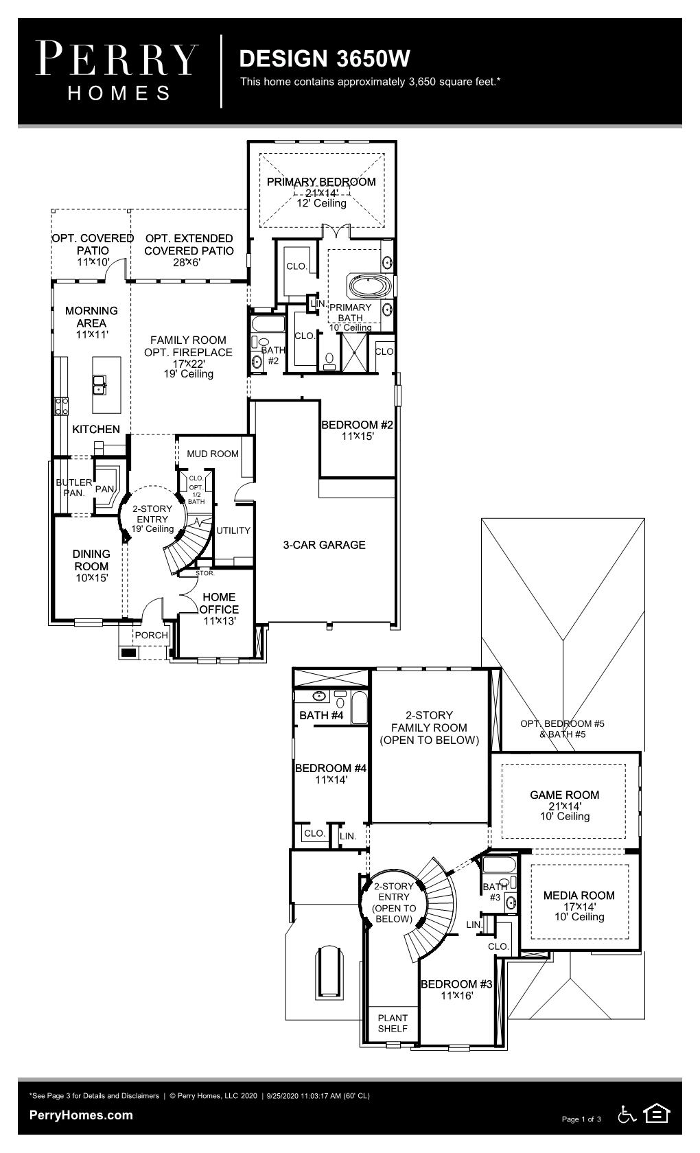 Floor Plan for 3650W