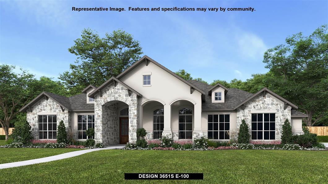 New Home Design, 3,651 sq. ft., 4 bed / 3.5 bath, 3-car garage
