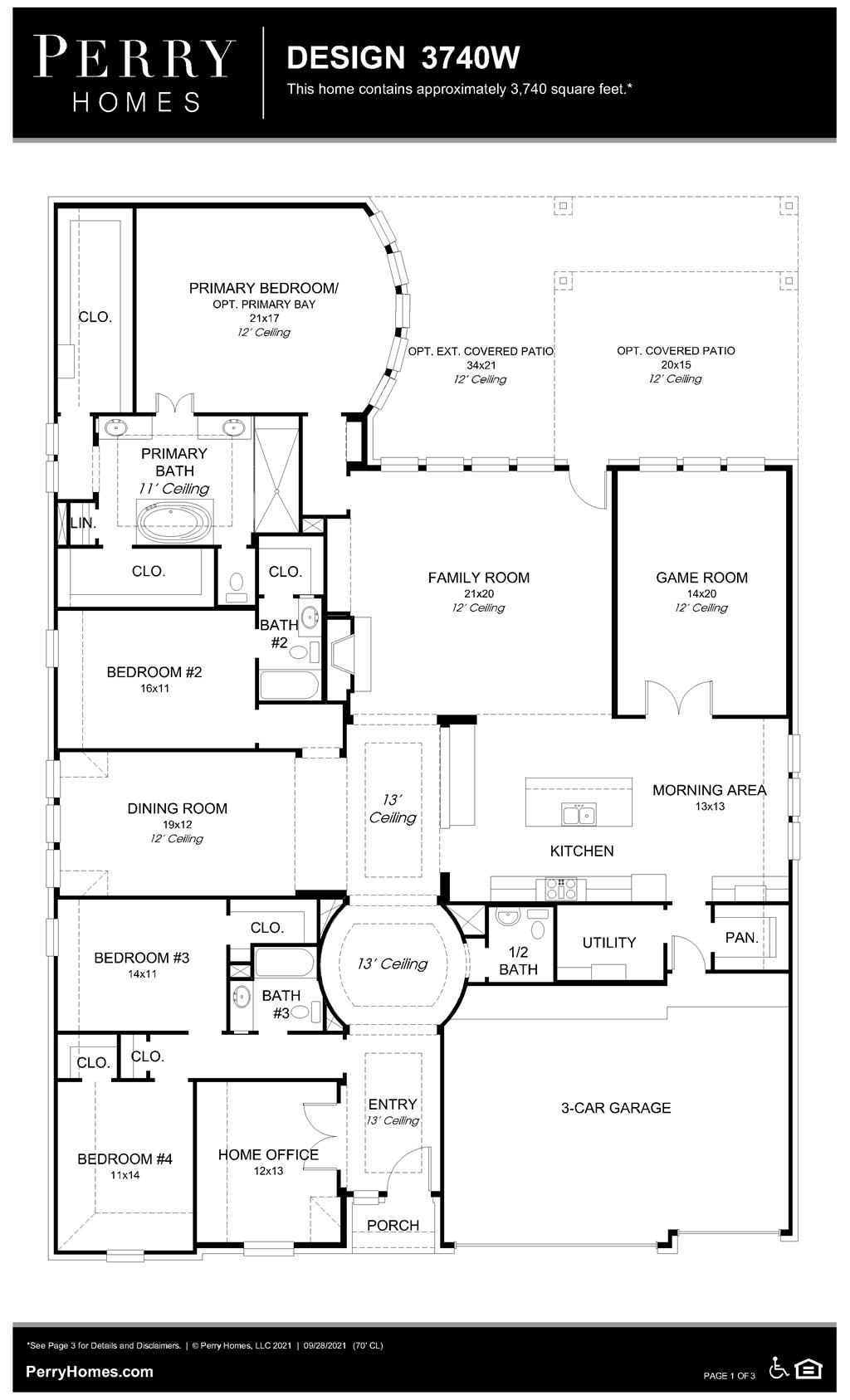 Floor Plan for 3740W