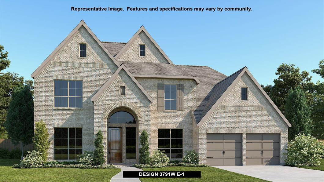 New Home Design, 3,791 sq. ft., 5 bed / 4.5 bath, 3-car garage