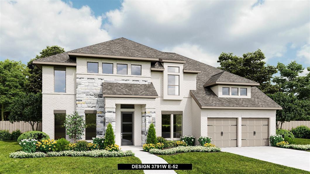 New Home Design, 3,791 sq. ft., 5 bed / 4.5 bath, 4-car garage