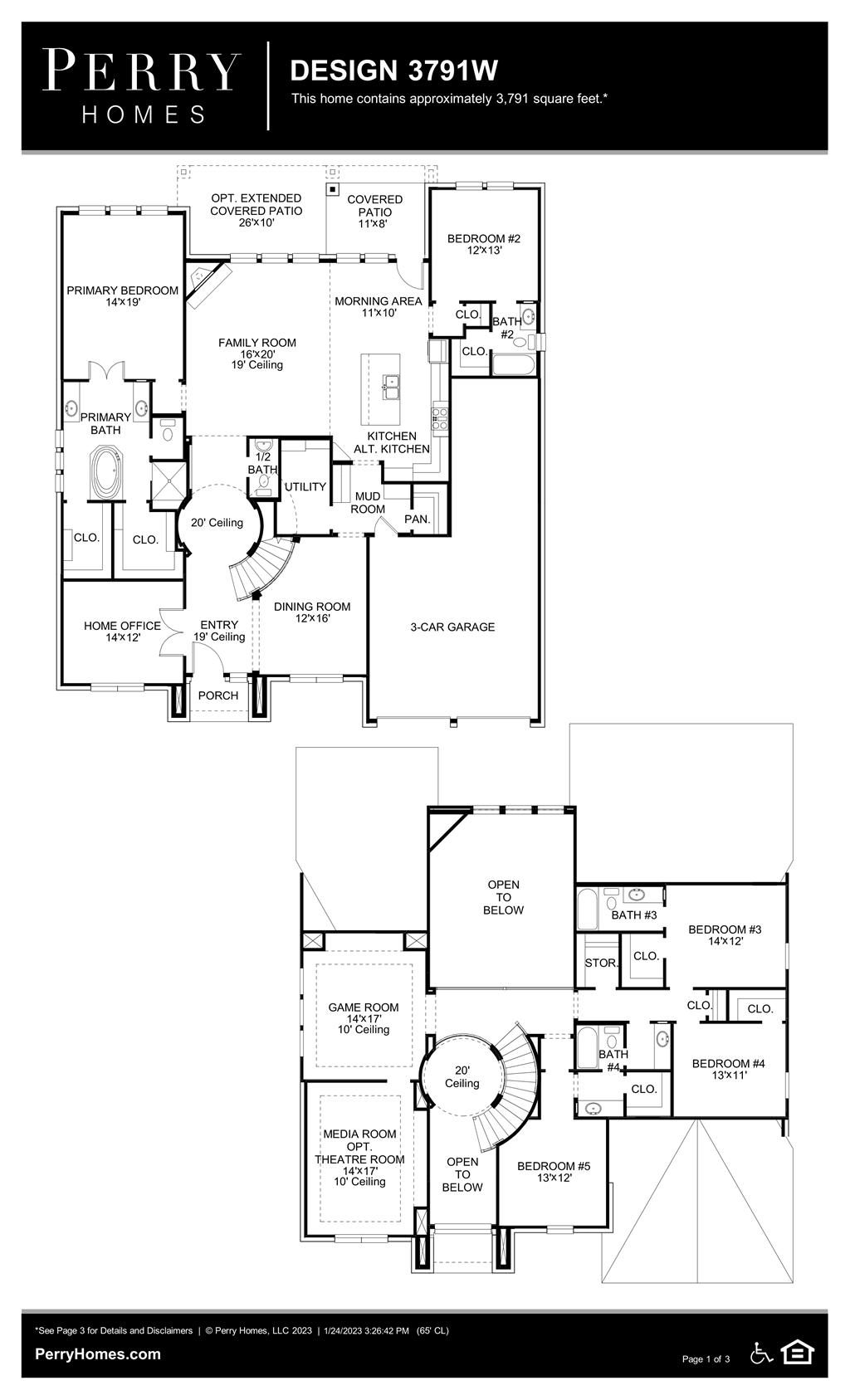 Floor Plan for 3791W