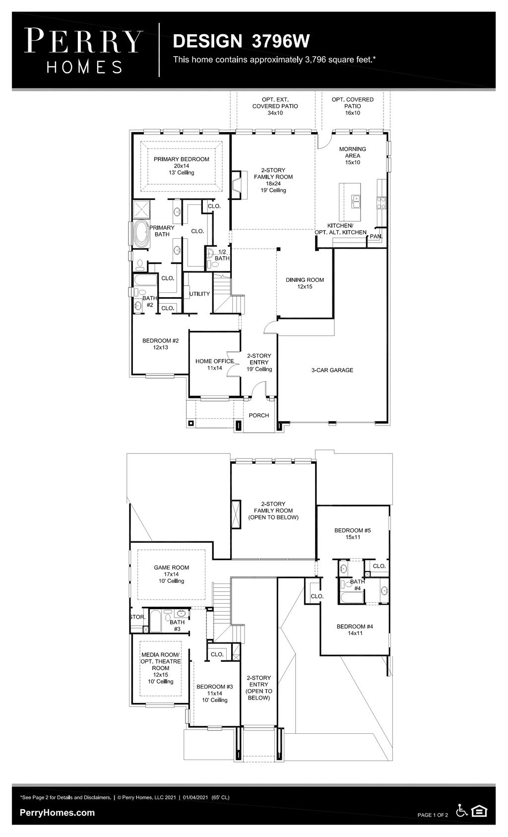 Floor Plan for 3796W