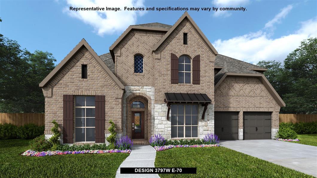 New Home Design, 3,797 sq. ft., 5 bed / 4.5 bath, 3-car garage