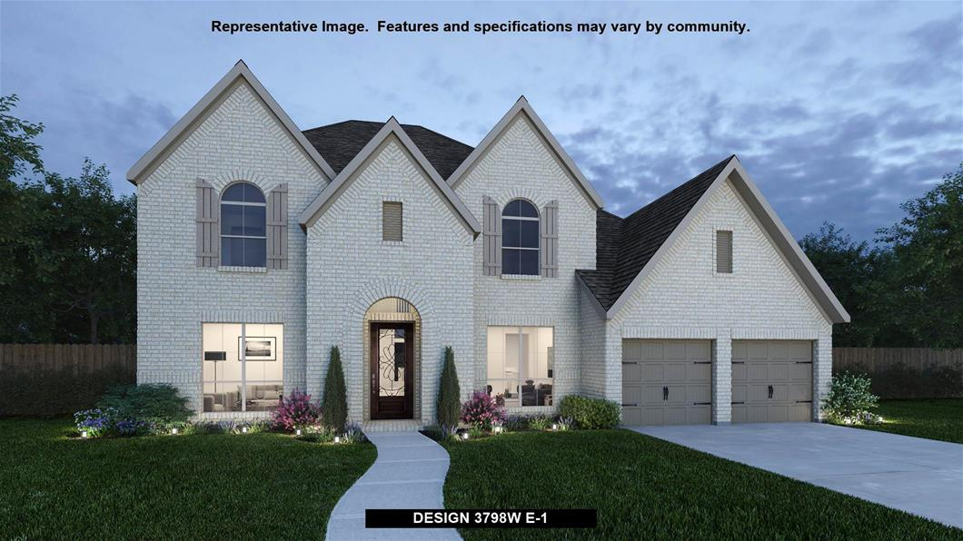 New Home Design, 3,798 sq. ft., 5 bed / 4.5 bath, 3-car garage