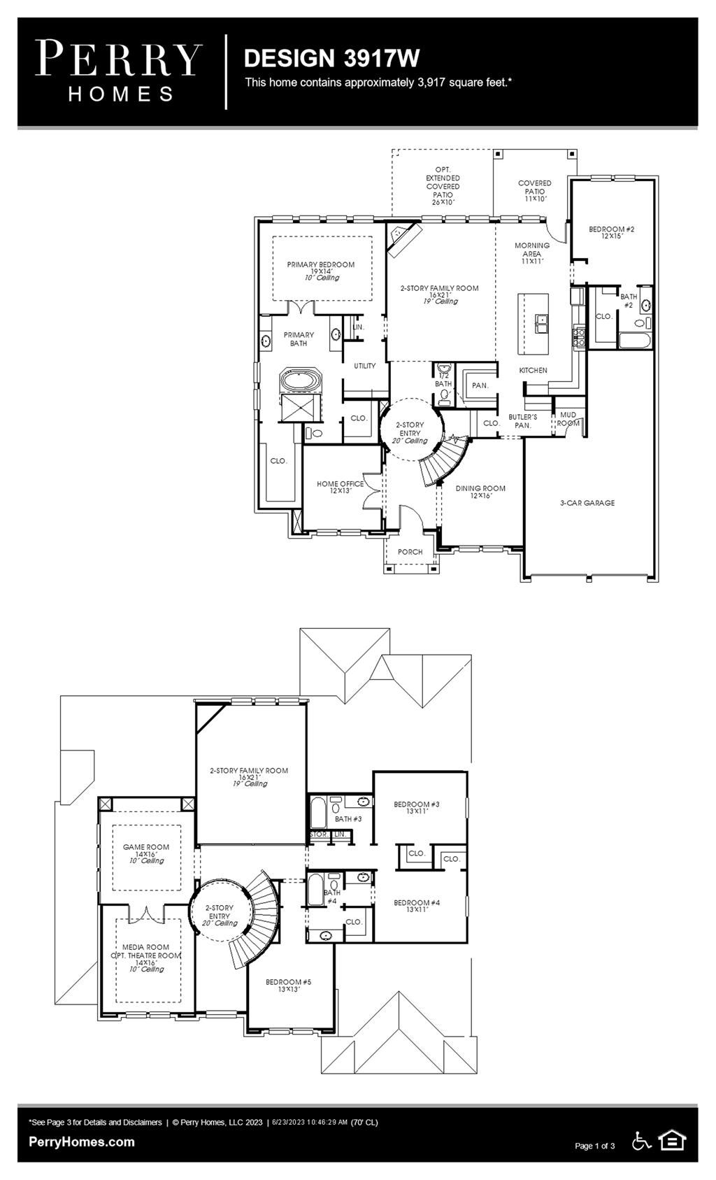 Floor Plan for 3917W