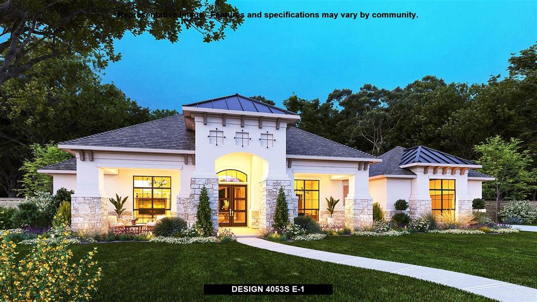 New Home Design, 4,053 sq. ft., 4 bed / 3.5 bath, 4-car garage