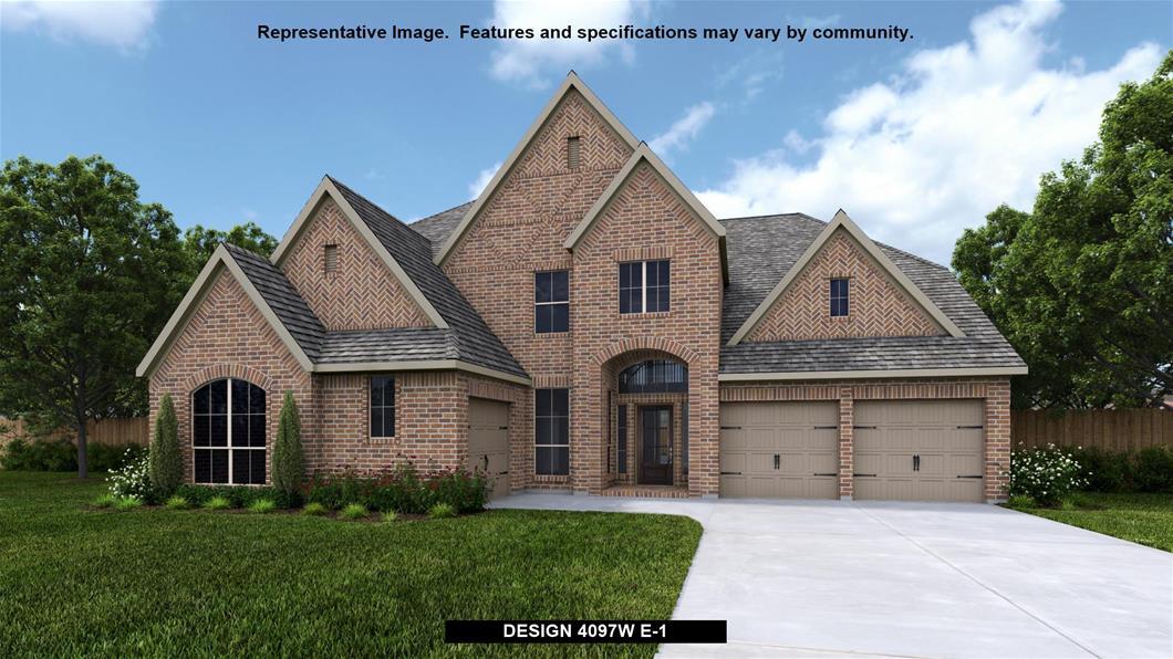 New Home Design, 4,097 sq. ft., 5 bed / 4.5 bath, 3-car garage