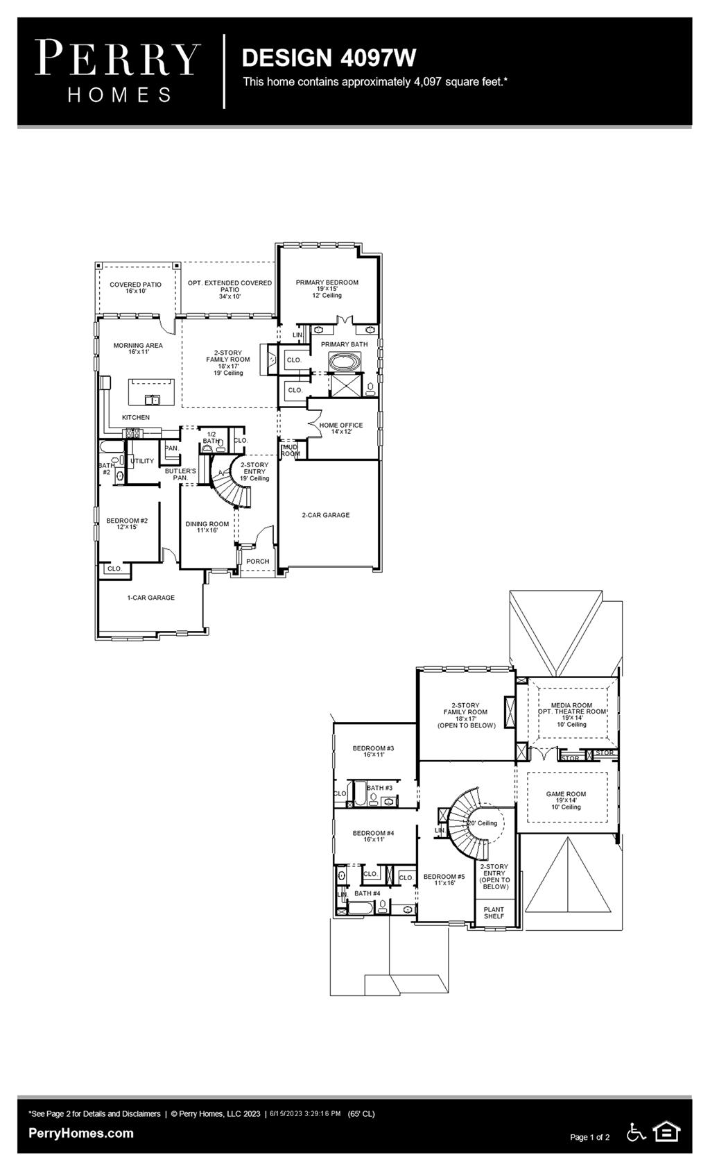 Floor Plan for 4097W