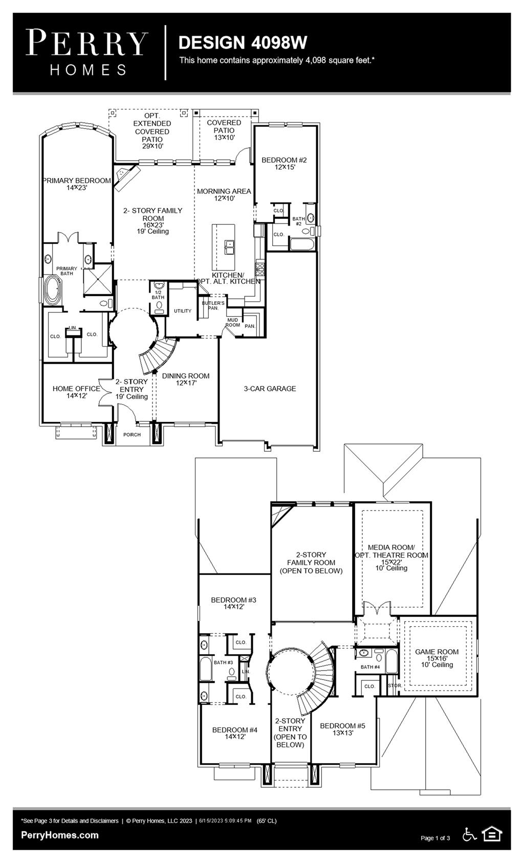 Floor Plan for 4098W
