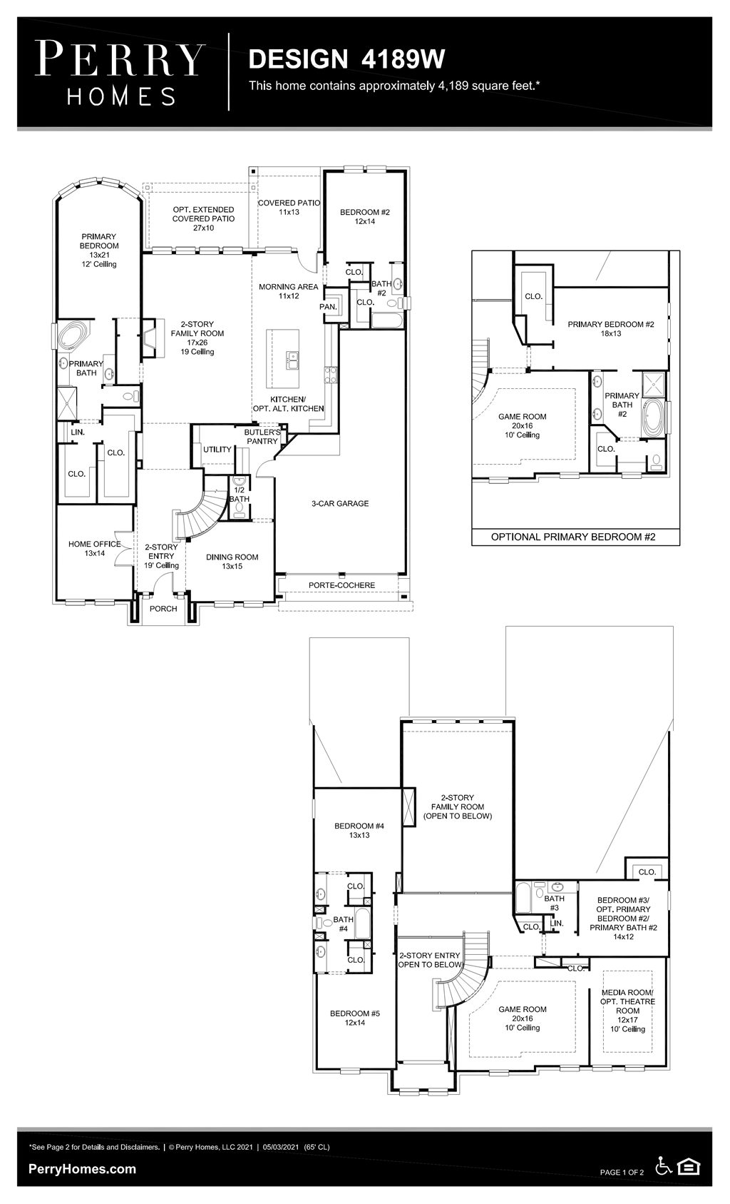 Floor Plan for 4189W