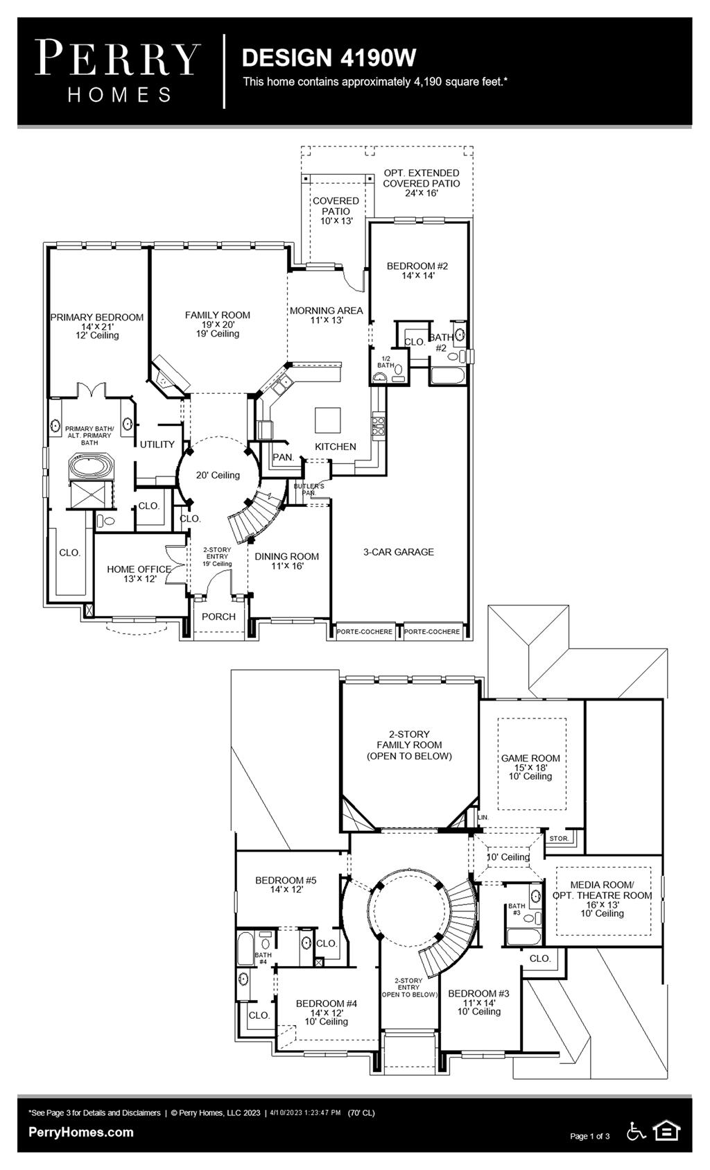 Floor Plan for 4190W