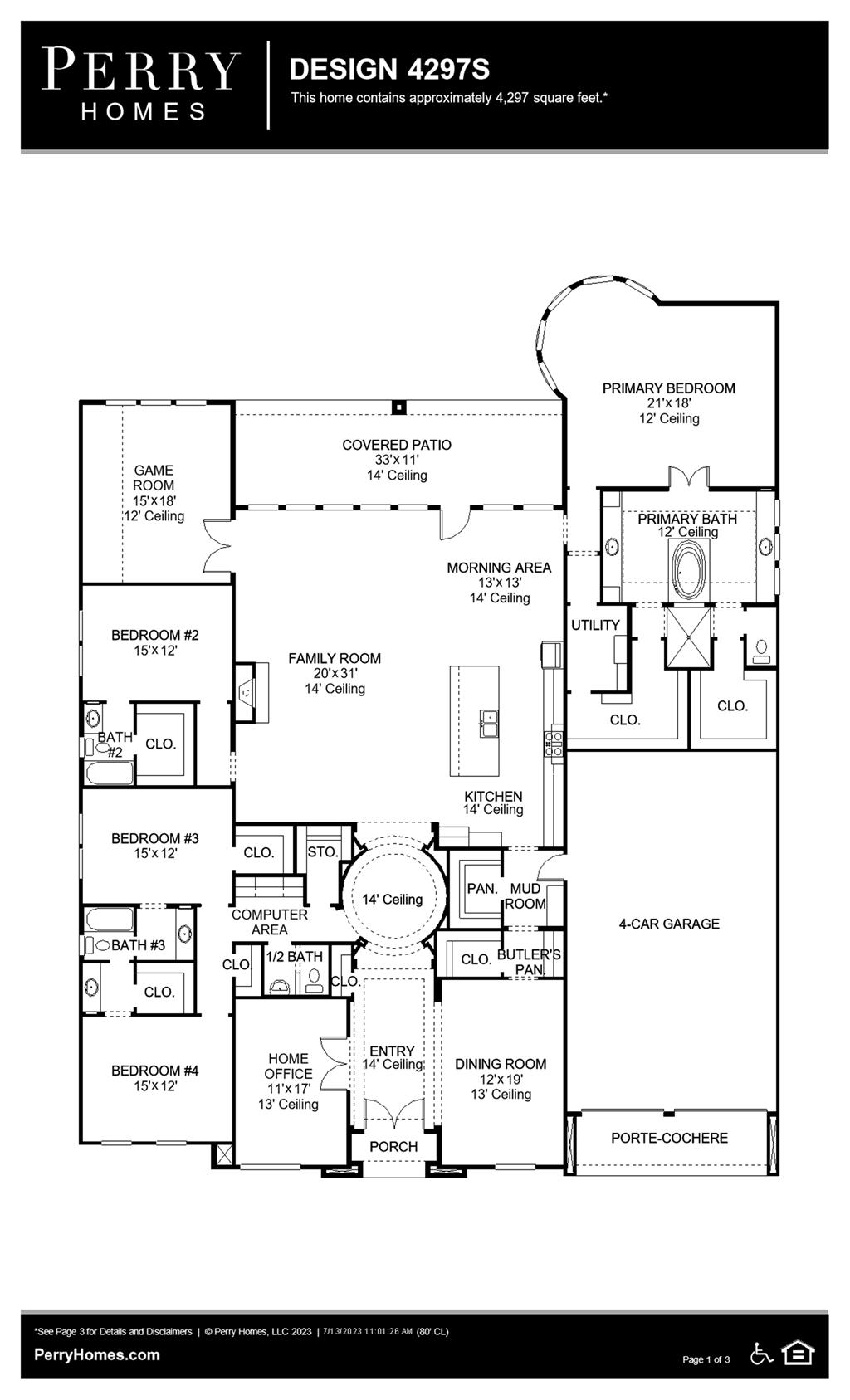 Floor Plan for 4297S