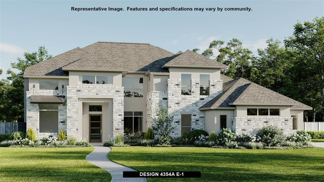 New Home Design, 4,354 sq. ft., 4 bed / 4.5 bath, 3-car garage