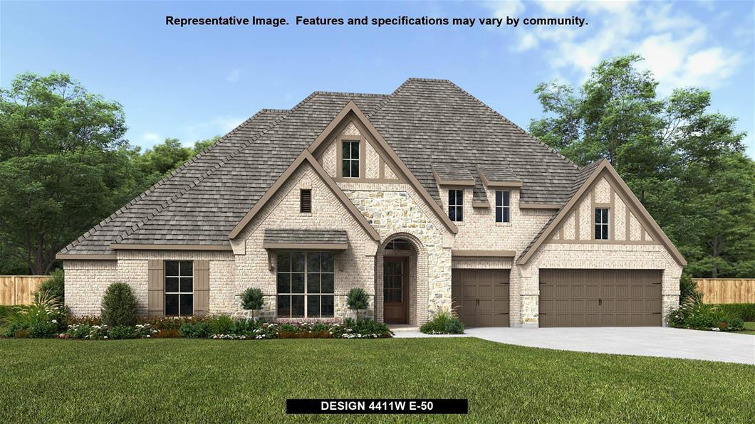 New Home Design, 4,411 sq. ft., 4 bed / 4.5 bath, 3-car garage