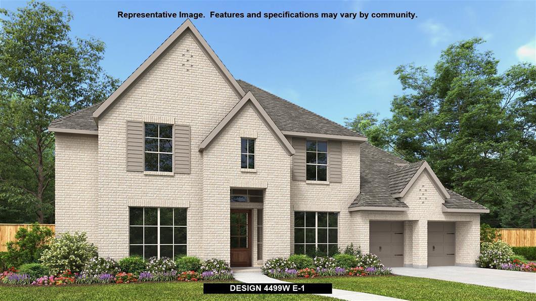 New Home Design, 4,499 sq. ft., 5 bed / 4.5 bath, 3-car garage