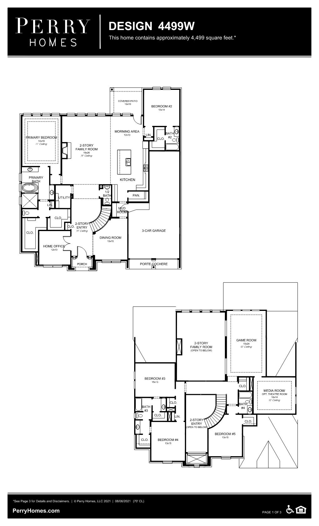 Floor Plan for 4499W