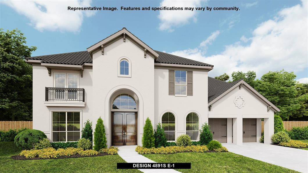 New Home Design, 4,891 sq. ft., 5 bed / 4.5 bath, 3-car garage