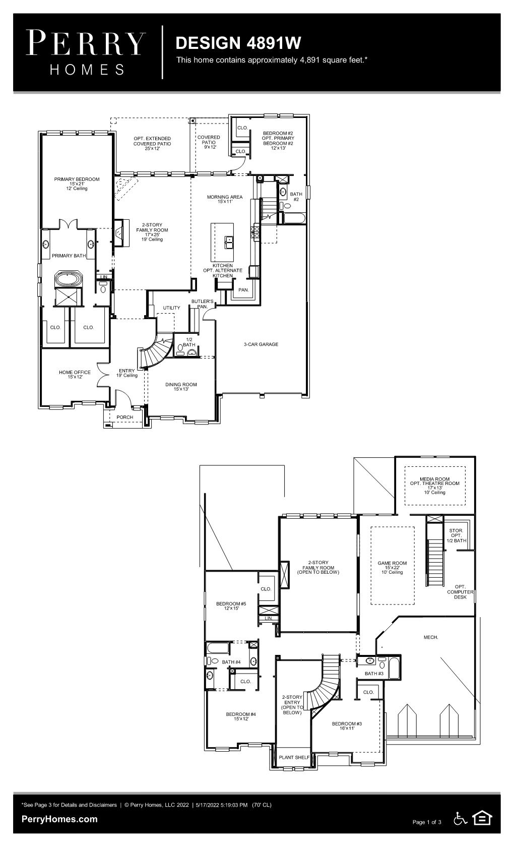 Floor Plan for 4891W