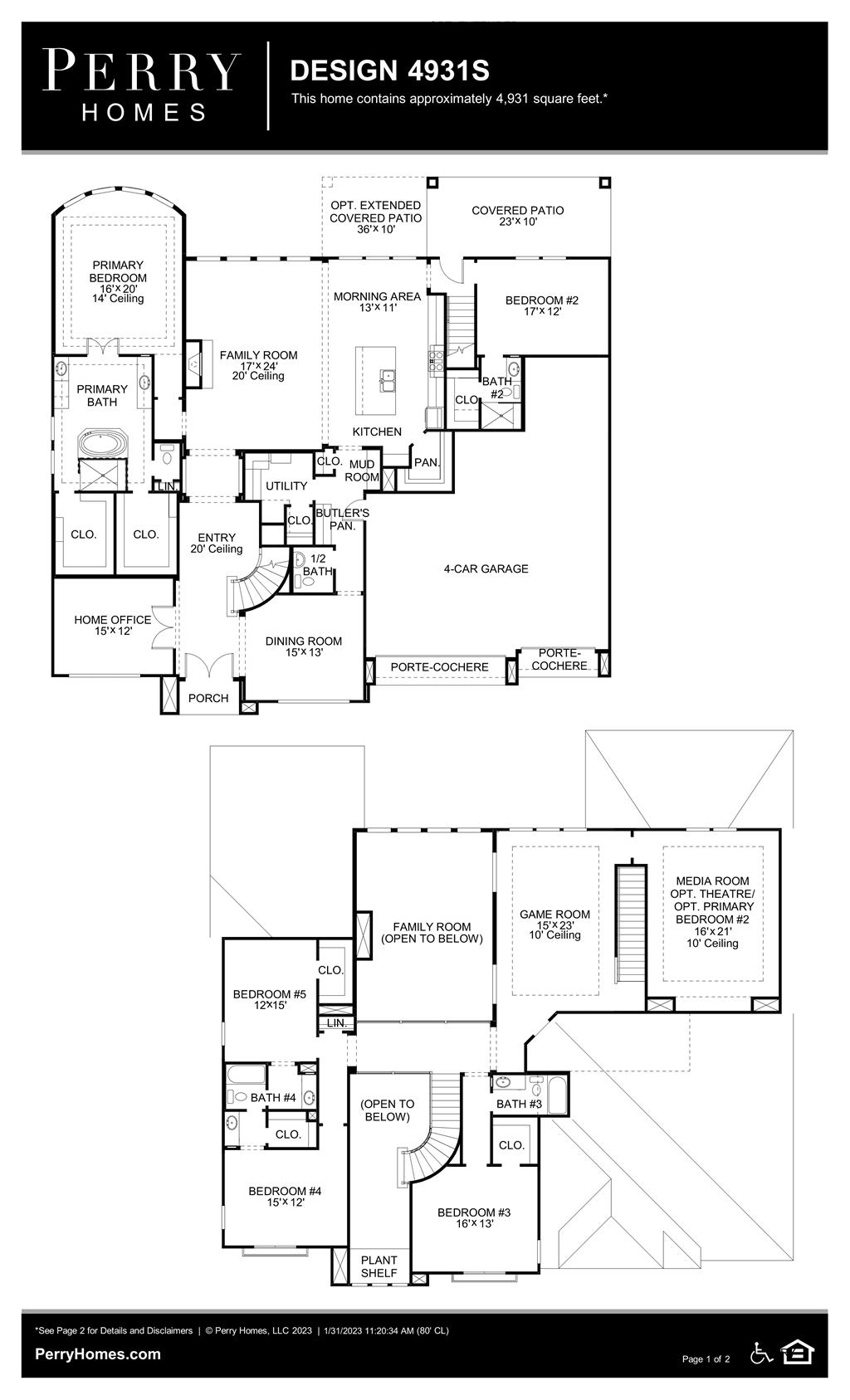 Floor Plan for 4931S
