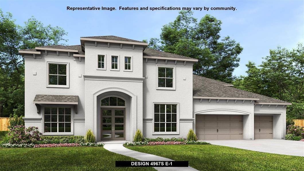 New Home Design, 4,967 sq. ft., 5 bed / 4.5 bath, 4-car garage