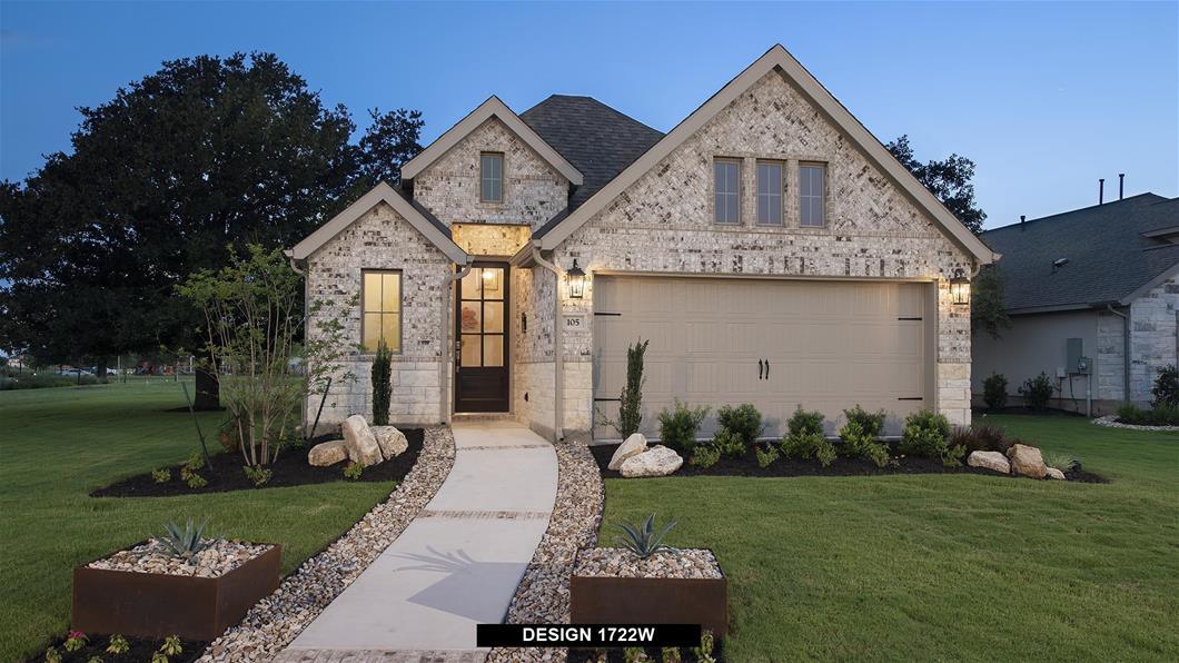 Model Home Design 1722W Exterior