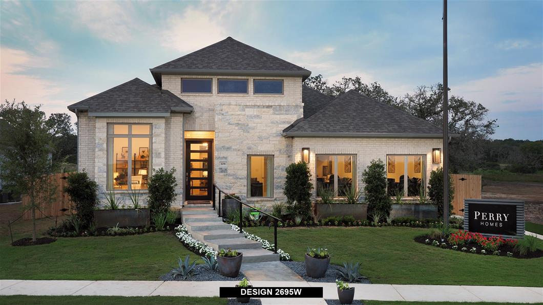 Model Home Design 2695W Exterior