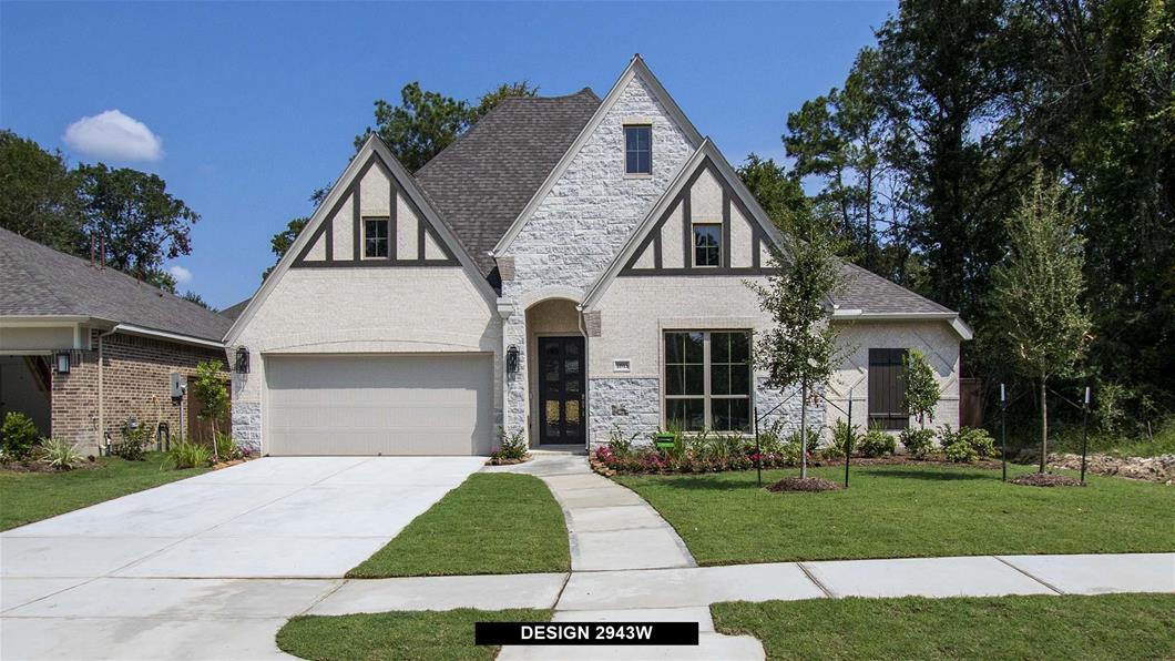 New Home Design, 2,943 sq. ft., 4 bed / 3.5 bath, 2-car garage