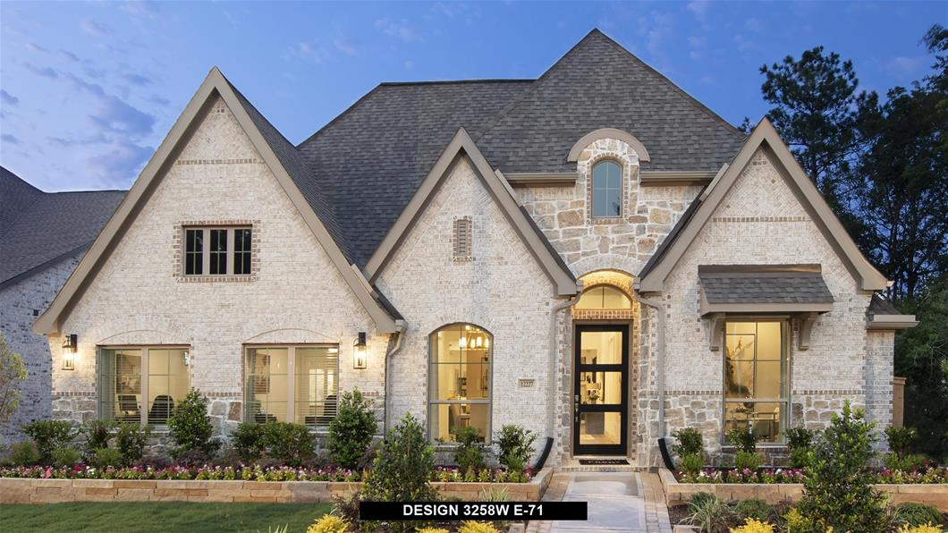 Model Home Design 3258W Exterior