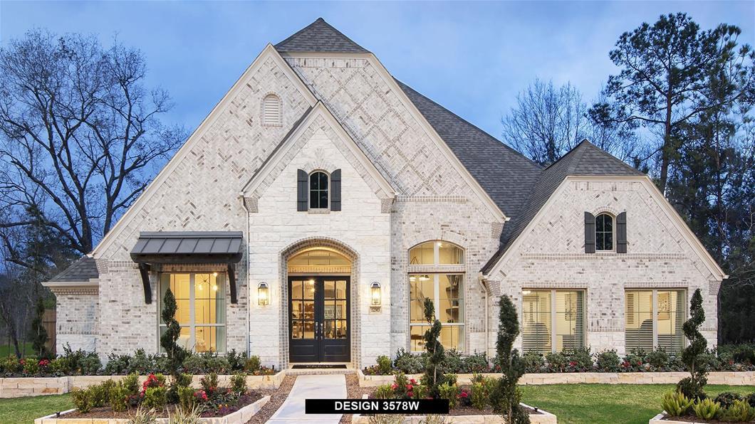 Model Home Design 3578W Exterior