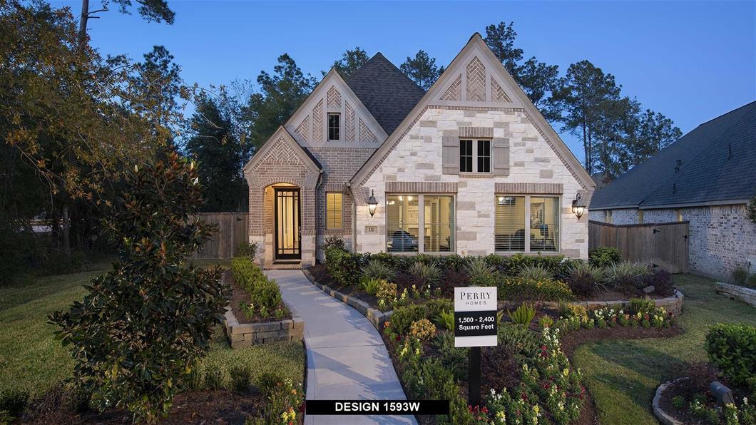 Model Home Design 1593W Exterior