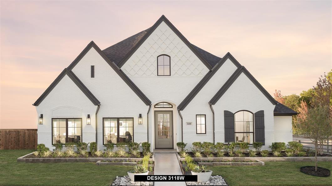 Model Home Design 3118W Exterior