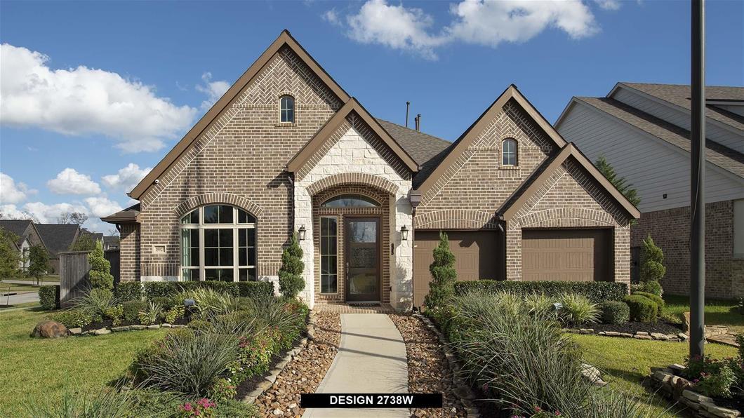 Model Home Design 2738W Exterior