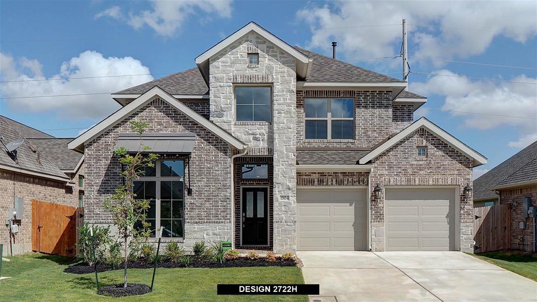 New Home Design, 2,722 sq. ft., 4 bed / 3.5 bath, 2-car garage