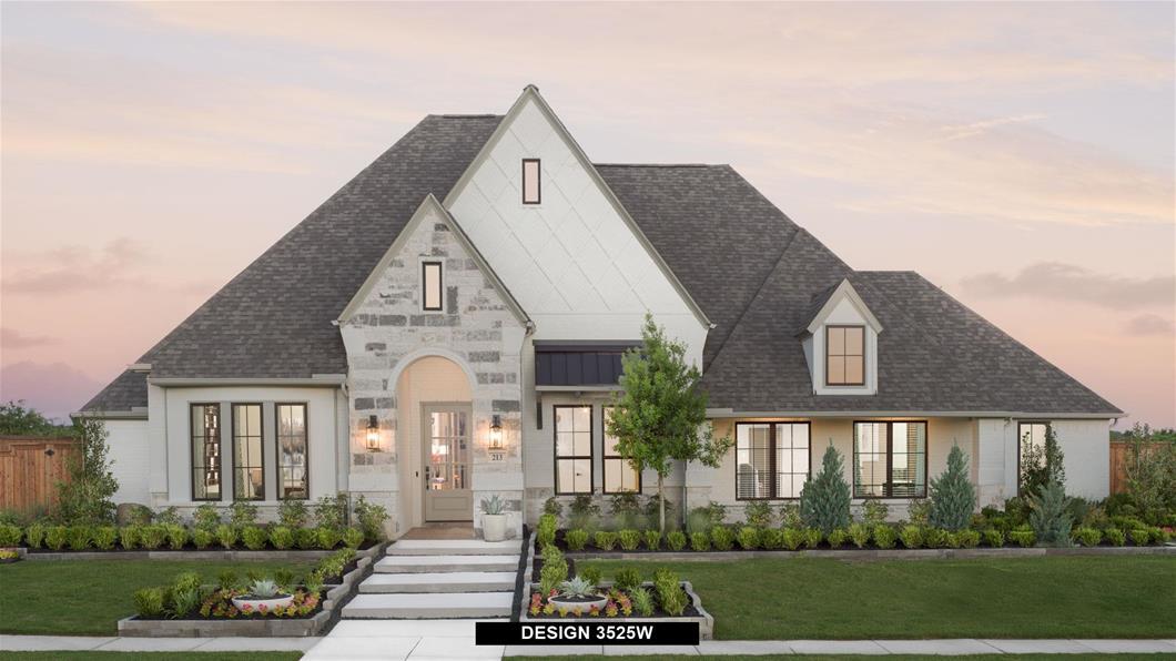 Model Home Design 3525W Exterior