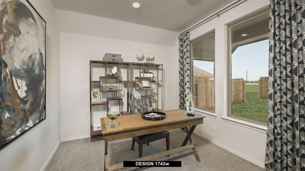 Model Home Design 1743W Interior