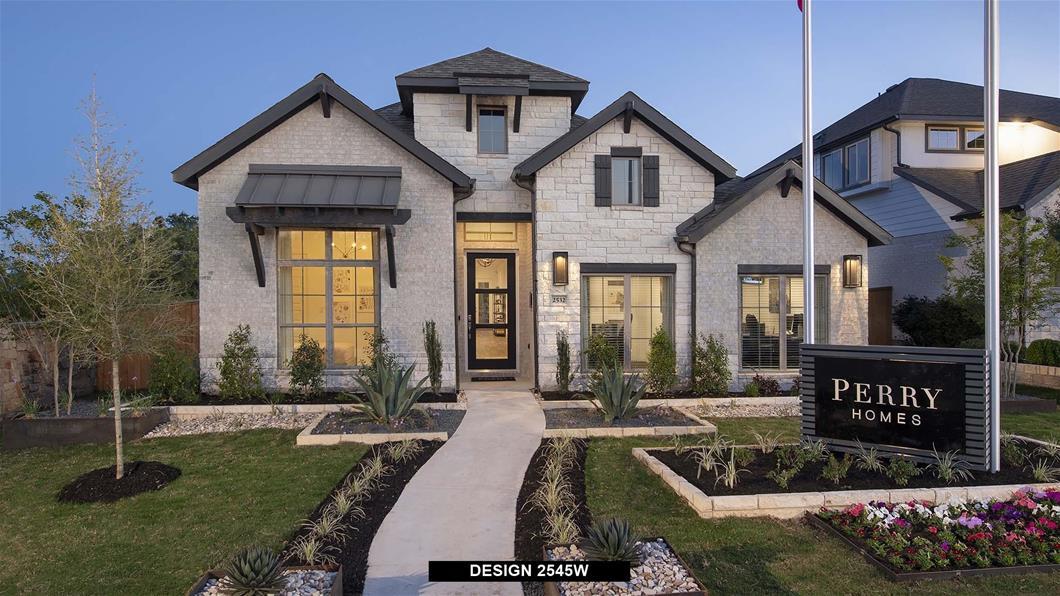 Model Home Design 2545W Exterior