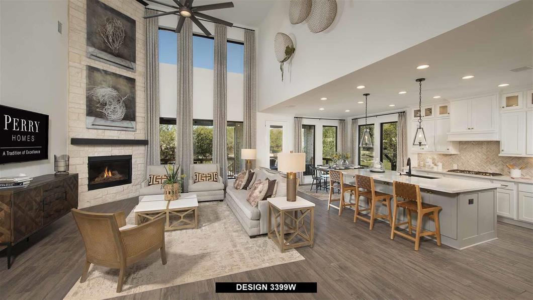 Model Home Design 3399W Interior