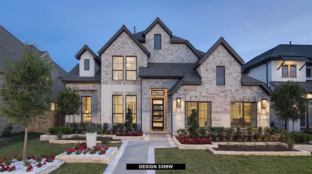 Model Home Design 3399W Exterior