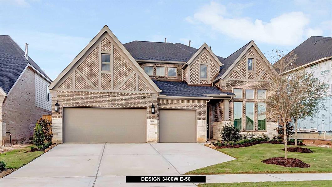 New Home Design, 3,400 sq. ft., 4 bed / 4.5 bath, 3-car garage