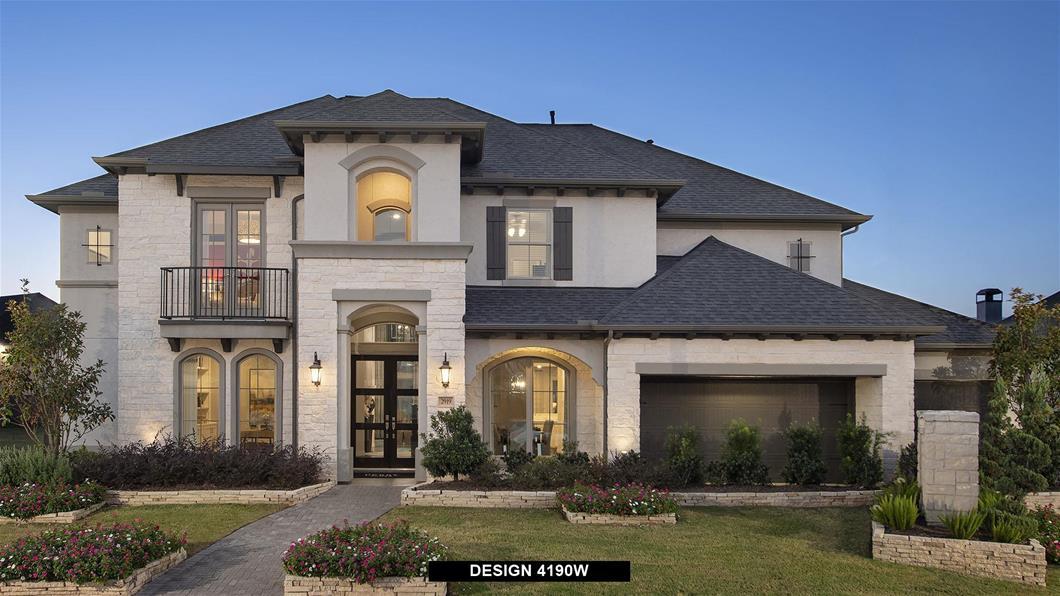 Model Home Design 4190W Exterior