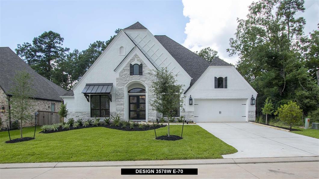 New Home Design, 3,578 sq. ft., 4 bed / 3.5 bath, 3-car garage