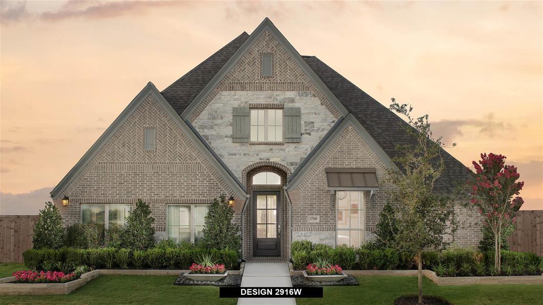 Model Home Design 2916W Exterior