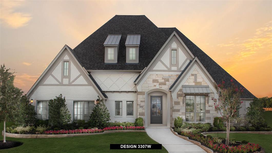Model Home Design 3307W Exterior