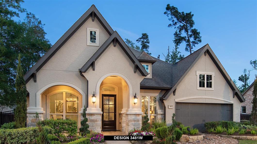 Model Home Design 3481W Exterior