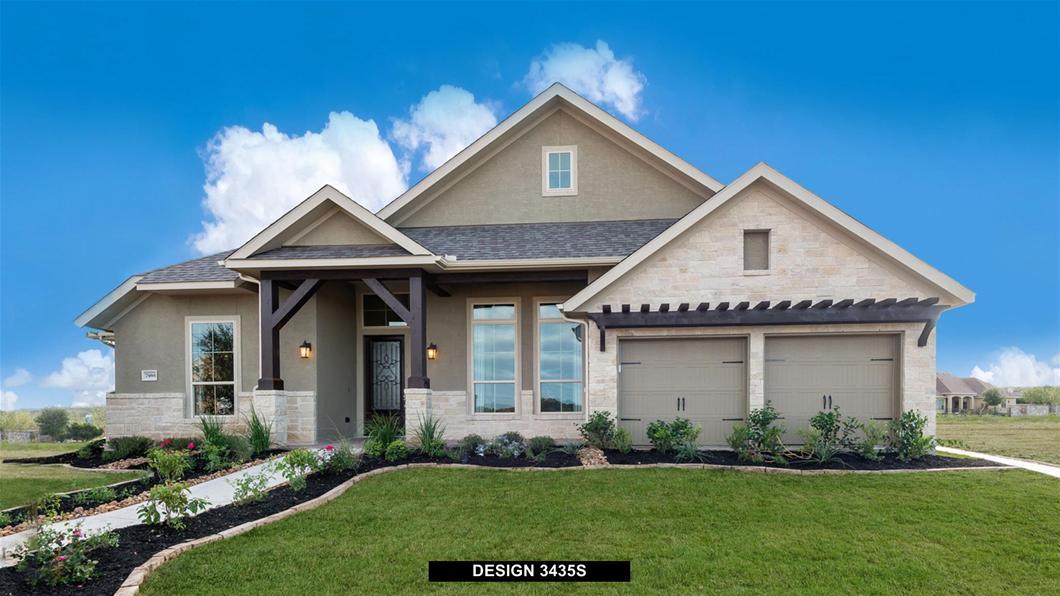 Model Home Design 3435S Exterior