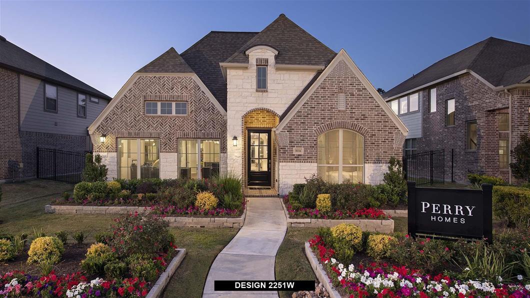 Model Home Design 2251W Exterior